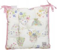 Подушка на стілець Чашечки рожева з малюнком La Nuit