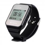 Часы пейджер для официантов с русским меню Retekess TD108 Черные (100532)