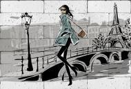 Картина гіпсова Прогулянка в Парижі 60.5x41 см BrickPrint