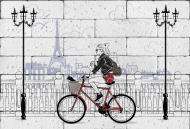 Картина гіпсова Велосипедистка 60.5x41 см BrickPrint