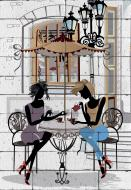 Картина гіпсова Дівчата в кафе 40.5x58.3 см BrickPrint