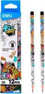 Олівець графітний EU53300 мiкс 2B Arti Graff Deli