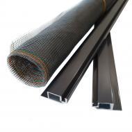 Сітка москітна на вікна збірна Vektor вставна 750х1500 мм антрацит