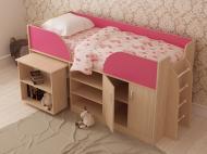 Ліжко дитяче Lion трансформер Пумба 80x190 см молочний/малиновий
