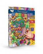 Набір сяючих елементів Danko Toys Блискуча мозаїка Совеня БМ-02-07