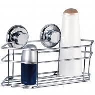Полиця для ванної Mega Lock хромована сталева 30.5x15.5x15.5см 11489
