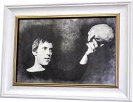Репродукция Владимир Высоцкий. Гамлет. №1707 в раме за состаренным зеркалом 28x38 см SEAPS