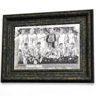 Репродукция Динамо Киев 1986 года №1731 в раме за состаренным зеркалом 28x38 см SEAPS