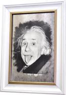 Репродукция Альберт Эйнштейн. Портрет с языком. №1793 в раме за состаренным зеркалом 28x38 см SEAPS