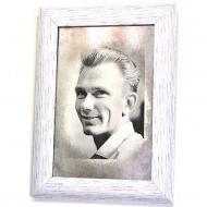 Репродукция Молодой Лобановский №1728 в раме за состаренным зеркалом 28x38 см SEAPS