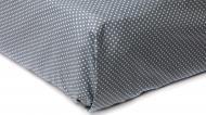 Простынь Горох на резинке 160x200 см синий Прованс