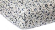 Простынь Цветы на резинке 160x200 см синий Прованс