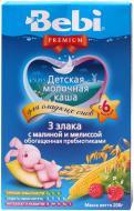 Каша молочна Bebi Premium 3 злаки з малиною та мелісою 3838471023283 200 г