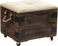 Скриня-пуф для зберігання Loft 48х40х40 см