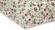 Простынь Роза на резинке 180x200 см бежевый Прованс