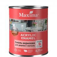 Эмаль Maxima акриловая для дерева и металла белая шелковистый мат 0,75л