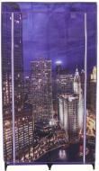 Гардероб текстильний City and Lights 1560х870х460 мм фіолетовий