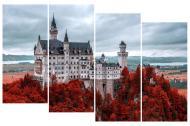 Картина модульна 4 частини Замок MK115 100x65 см