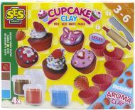 Набір для ліплення SES Фруктові кекси незасихаючий 4 кольори в пластикових баночках аксесуари 00479S