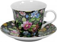 Чашка с блюдцем Цветы полевые 220 мл 21-245-021 Оселя