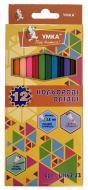 Олівці кольорові 12 кольорів Колормікс ЦК42-23 Умка