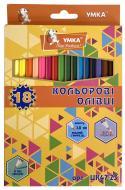Олівці кольорові 18 кольорів Колормікс ЦК47-23 Умка