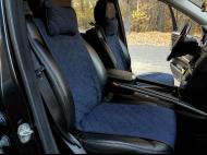 Накидки на передние сиденья Motowey из искусственной замши Темно-синий (2619s)