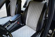 Накидки на передние сиденья Motowey из искусственной замши Светло-серый (2628)