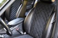 Накидки на передние сиденья Motowey из искусственной замши Темно-серый (2622G)