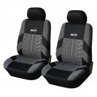 Автомобильные чехлы на передние сиденья 2 шт, универсальный размер Черно-серый (46-891711571)