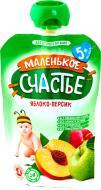 Пюре Маленькое счастье Яблоко-персик 90 г 4813163001816