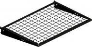 Полка для гардеробной системы Kolchuga с кронштейнами BLACK EDITION 606х406 мм черный