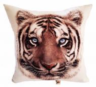 Подушка декоративная Тигр 430x430 см молочный с принтом Анна