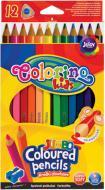 Карандаши цветные Colorino Jumbo 17.5 см с точилкой 12 цветов (15530PTR/1)