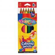 Карандаши Colorino Jumbo трехгранные 6 цветов с точилкой (57431PTR)