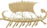Ключниця Грецька галера 250х160x15 мм золотиста