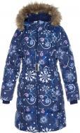 Пальто для девочки HUPPA Yacaranda р.134 синий 12030030-94286-134