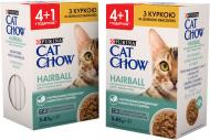 Корм Cat Chow Промо Purina Hairball Adult 4+1 Курка і зелена квасоля в желе 85 г