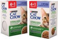 Корм Cat Chow Промо Purina Sterilized 4+1 Ягня та зелена квасоля в желе 85 г