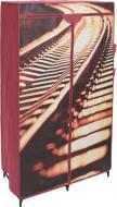 Гардероб текстильний Railway 1560х870х460 мм червоний