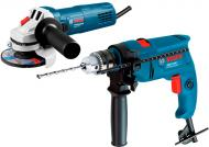 Набір інструментів Bosch Professional GWS 750 + GSB 1300 0615990K2D