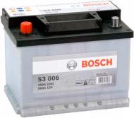 Акумулятор автомобільний Bosch S3 006 56А 12 B 0 092 S30 060 «+» ліворуч