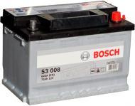 Акумулятор автомобільний Bosch S3 008 70А 12 B 0 092 S30 080 «+» праворуч