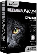 Краплі UNiCUM Premium від бліх і кліщів на холку для котів масою 0-4 кг (UN-004)