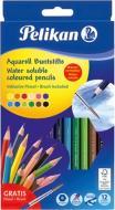 Олівці кольорові акварельні Aquarell 12 шт з пензликом Pelikan