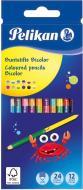 Олівці кольорові двосторонні Bicolor 24 кольори 12 шт Pelikan