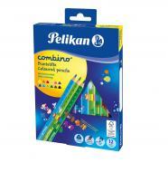 Олівці кольорові Combino 12 шт. потовщені з малюнками-трансформерами 811194 Pelikan