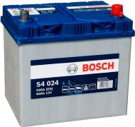 Акумулятор автомобільний Bosch S4 024 60А 12 B 0 092 S40 240 «+» праворуч