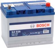 Акумулятор автомобільний Bosch S4 026 70А 12 B 0 092 S40 260 «+» праворуч