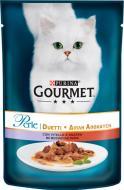 Корм Gourmet Perle міні філе в підливі з яловичиною і качкою 85 г